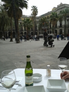 Placa Reial - with wine